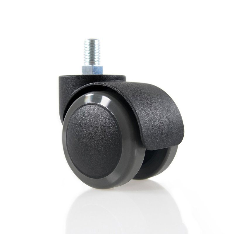 Ersatzrollen Büro-Stuhl-Rollen 5er-Pack ROLO SKATE 11mm 75 mm Chrom transparent