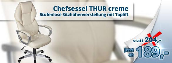 B�rostuhl / Chefsessel THUR creme